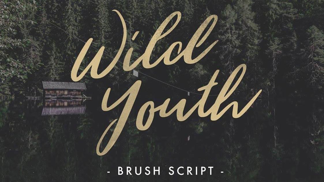 Wild Youth brush script