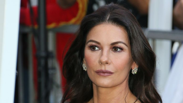 Catherine Zeta-Jones poses at the Michael Douglas Star On The Hollywood Walk Of Fame ceremony on November 6, 2018 in Hollywood, California.