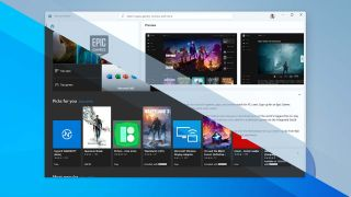 An image edited to show the Microsoft Store on both Windows 11 and Windows 10 OSes