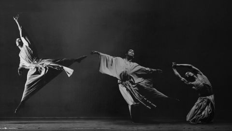 Alvin Ailey's dancers on stage