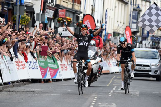 Peter Kennaugh wins British men's road race national championships 2014