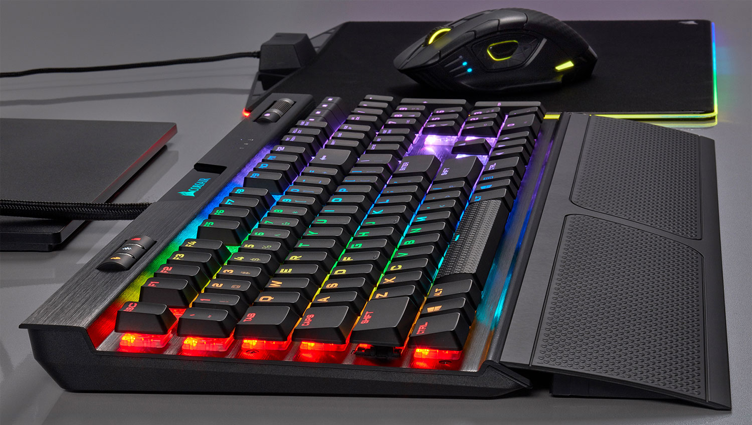 Corsair's new mechanical keyboards use low profile keys to prevent