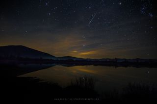 Astrophotographer Sébastien Joly sent in a photo of a Taurid meteor captured over Lake Cerknica in Slovenia, on Nov. 10, 2015.