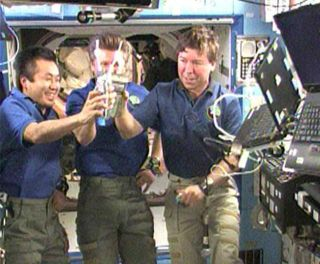 Astronauts Drink Recycled Urine, and Celebrate