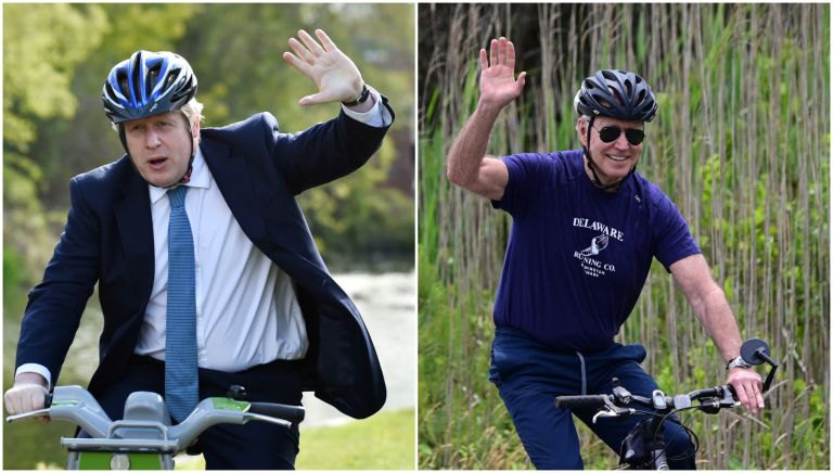 Boris Johnson has been given a bike by the US president