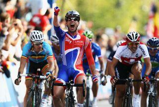 Cavendish wins the 2011 UCI Road World Championships in Copenhagen, Denmark