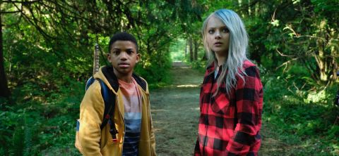 Gunner (Lonnie Chavis) and Jo (Amiah Miller) encounter more than they bargained for when they venture into a mysterious forest in search of a mythical figure with the power of eternal life in 'The Water Man.'