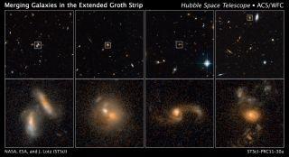 Hubble Galaxy Crashes