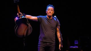 Bruce Springsteen onstage at the Walter Kerr Theatre on opening night last year