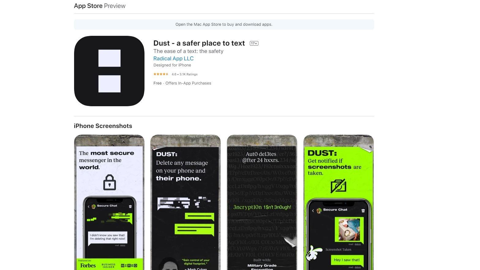 Dust App Store