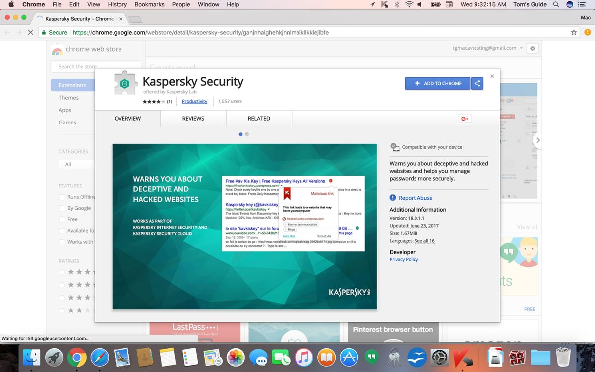 Kaspersky Internet Security for Mac Review: The One to Get | Tom's Guide