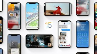 The iOS 15.1 collage made by Apple.