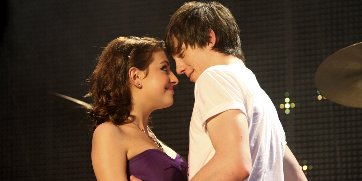 Georgia Groome and Aaron Taylor-Johnson in Angus, Thongs and Perfect Snogging