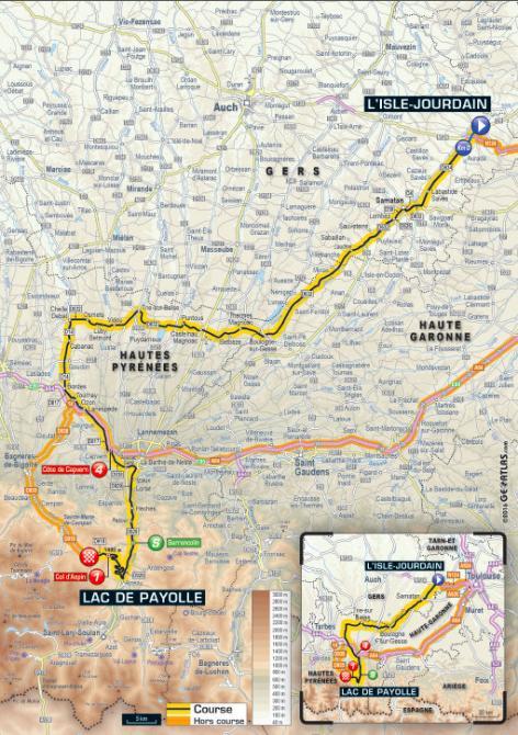 Tour De France 2016 Stage 7 Map
