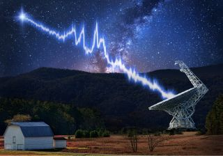 The Green Bank Telescope in West Virginia measured a complicated structure in a fast radio burst from the source FRB 121102. The telescope detected the burst using a new recording system from the Breakthrough Listen project.