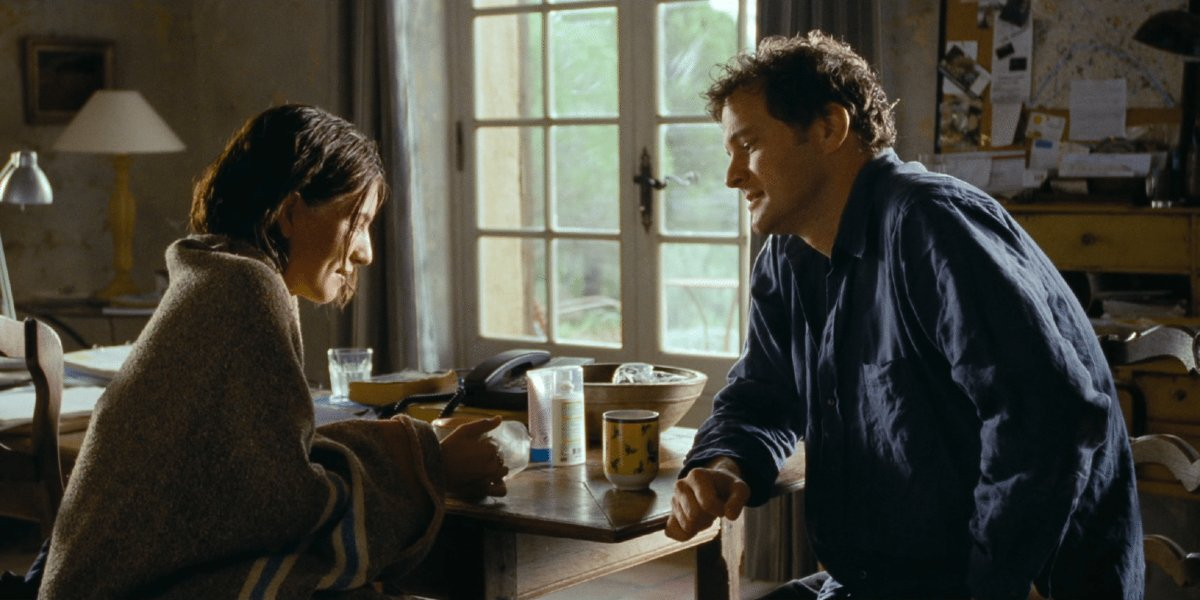 Colin Firth and Lúcia Moniz in Love Actually