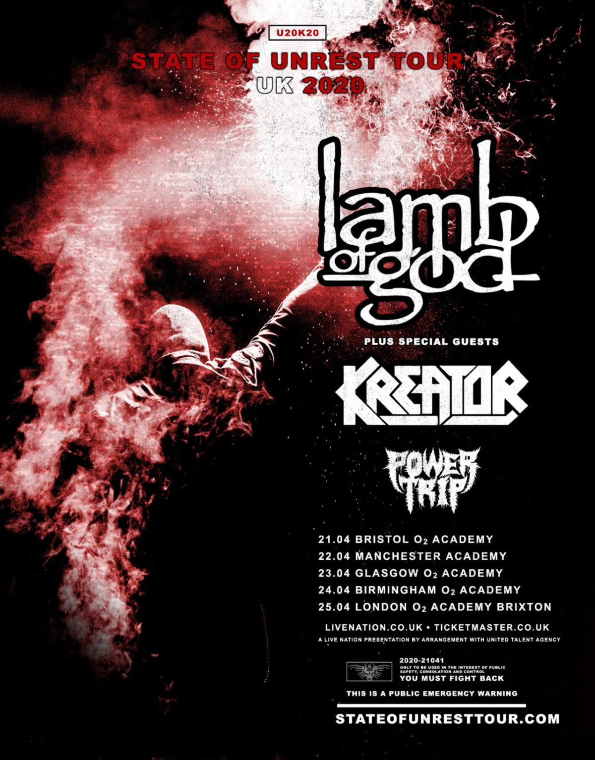 Slayer Tour 2020.Lamb Of God Announce First Uk Headline Tour In 6 Years Louder