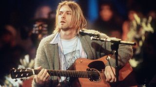 Nirvana's Kurt Cobain on MTV Unplugged, 1993