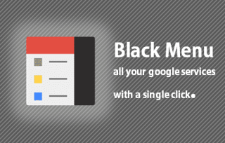 Black Menu - access all of your Google apps from here - Chrome ext