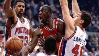Michael Jordan and the Chicago Bulls.
