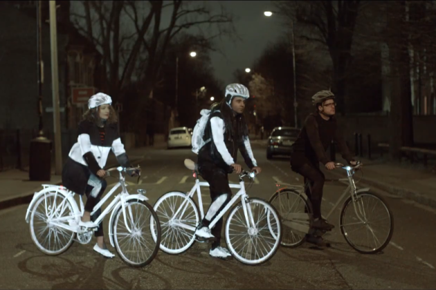 Volvo hands out glow-in-the-dark spray to London cyclists ...