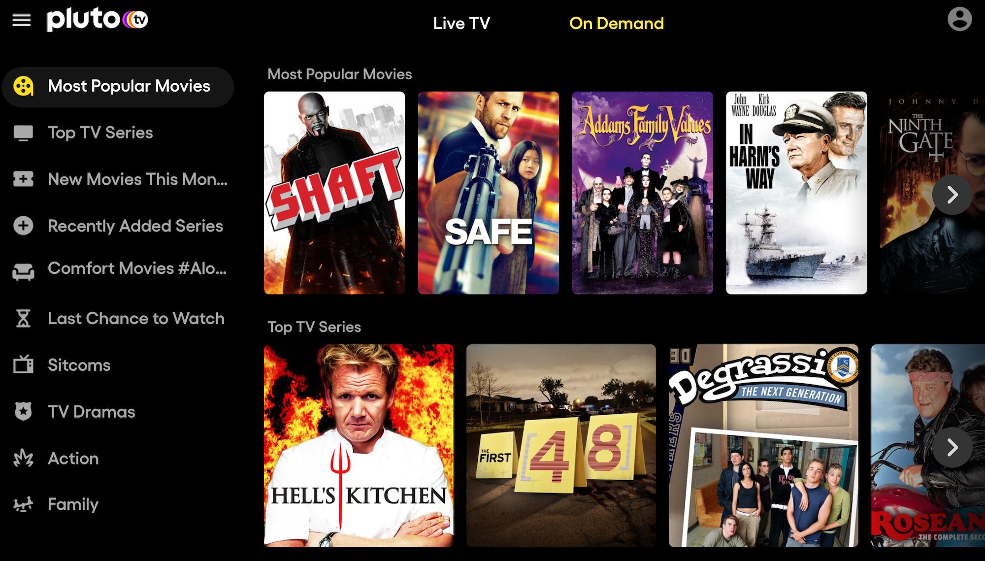 free movies online: Pluto TV