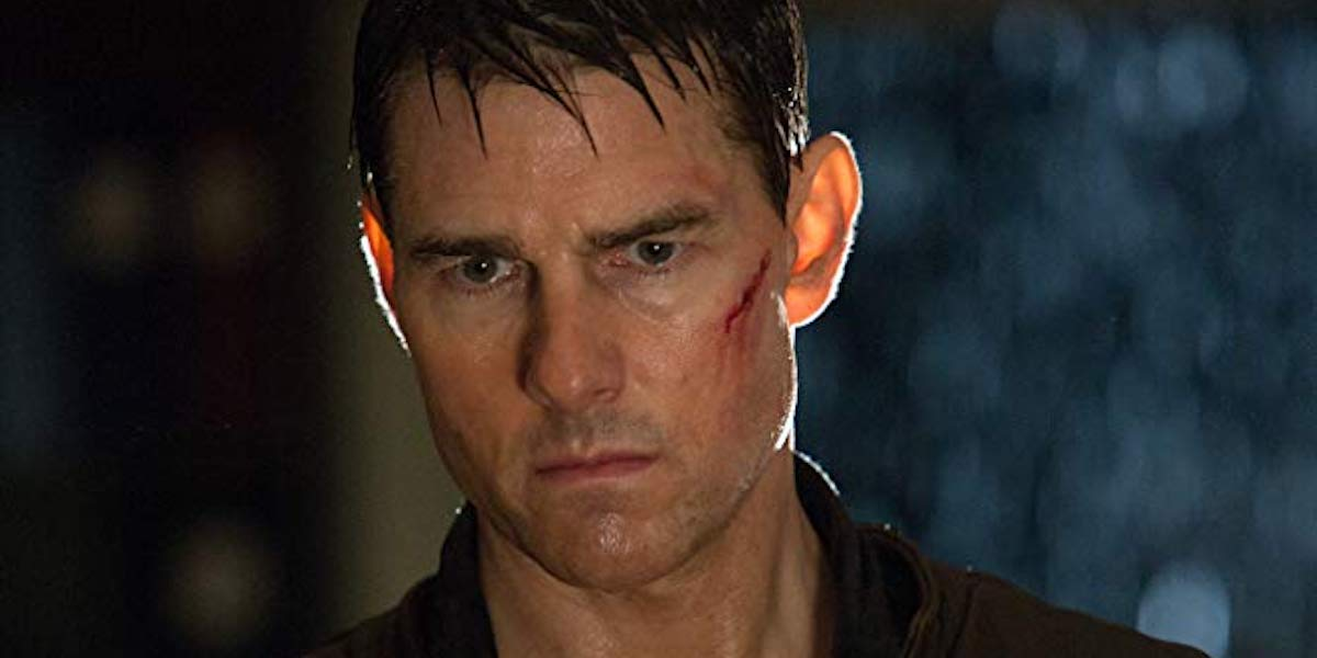 Tom Cruise as Jack Reacher in 2012 action flick