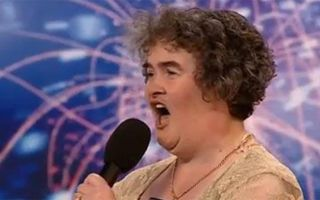 "Susan Boyle performing on ""Britain's Got Talent"" in 2009. A clip of her performance went viral."