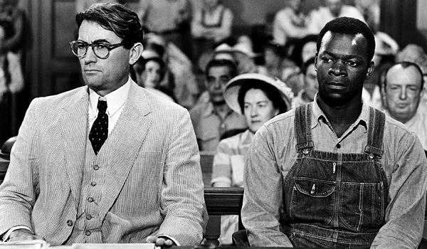 To Kill A Mockingbird Gregory Peck Brock Peters courtroom scene