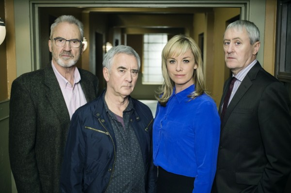 Larry Lamb with his New Tricks co-stars - Denis Lawson, Tamzin Outhwaite and Nicholas Lyndhurst