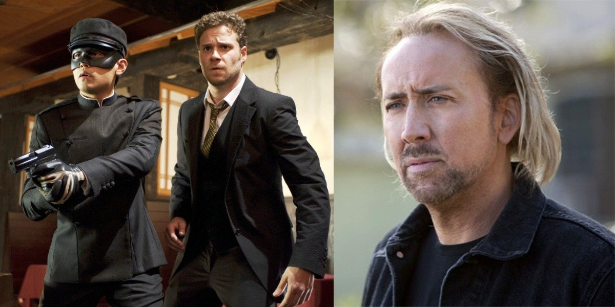 Nicolas Cage Responds After Seth Rogen Says He Wanted To Play A 'Jamaican White Guy' In Green Hornet