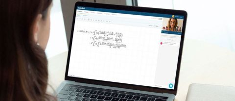 TutorMe review: Image of student at laptop having lesson with tutor