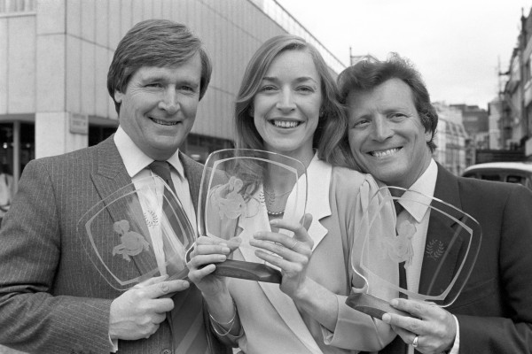 Anne Kirkbride with on screen husband William Roache and Johnny Briggs