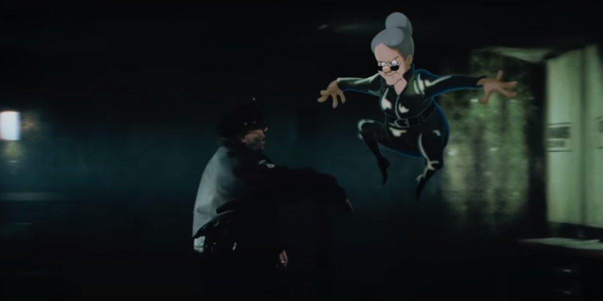 Granny doing a Matrix