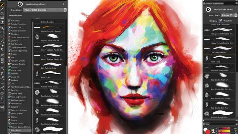Corel Painter 2020 interface
