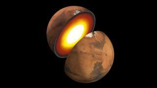 An artist's illustration of the center of Mars