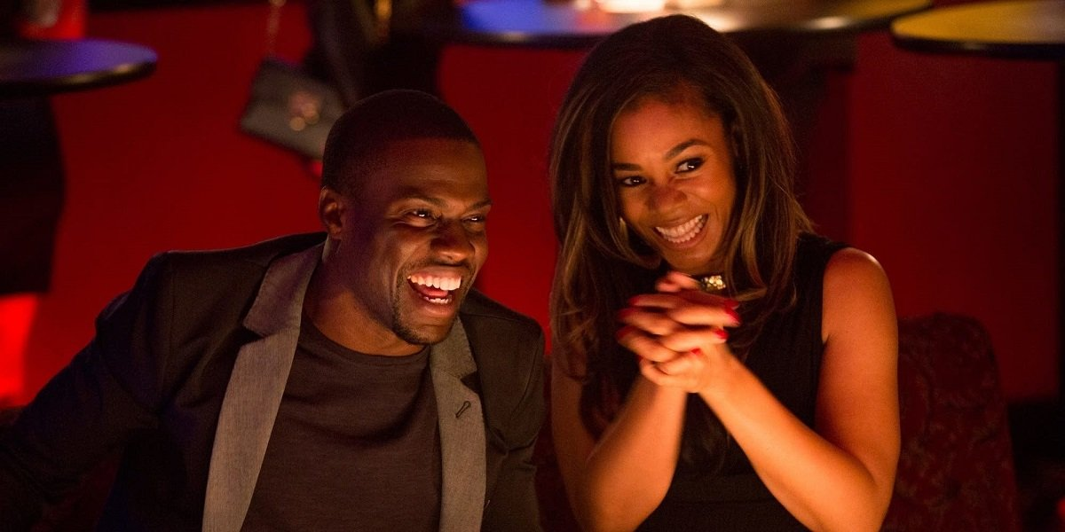 Regina Hall and Kevin Hart in About Last Night