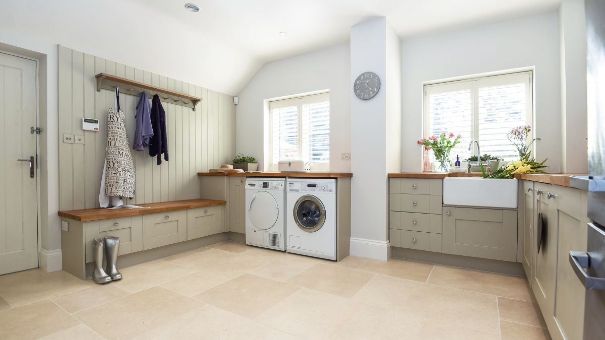 Planning and designing a utility room real homes for House plans with large laundry room