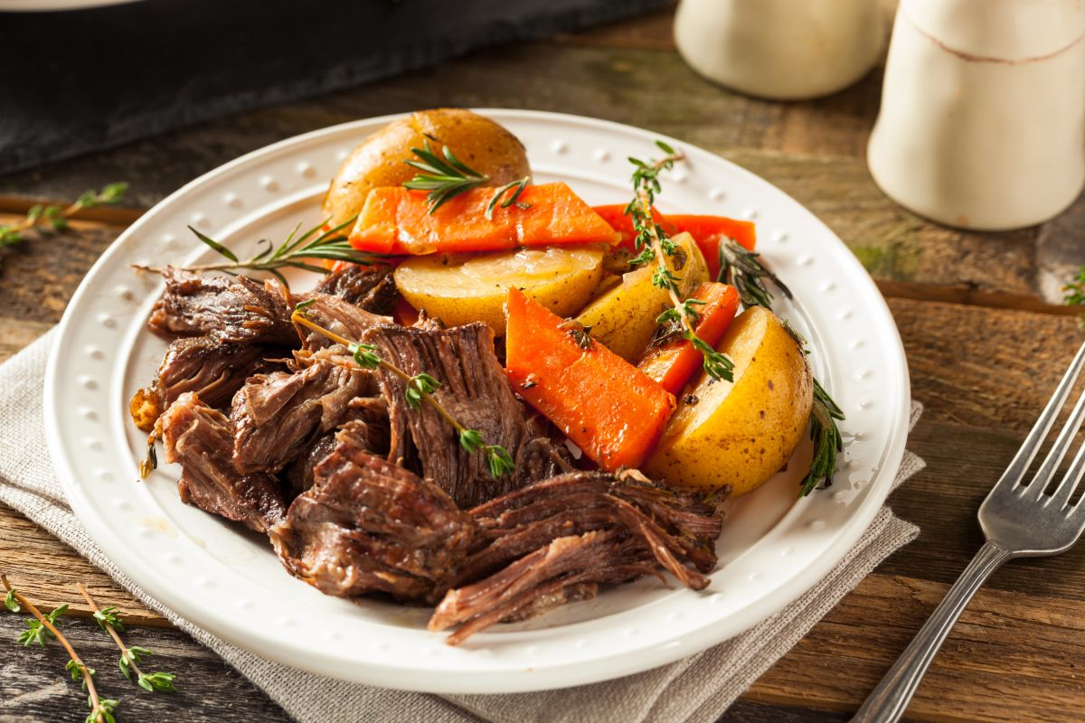 This slow cooker roast beef recipe makes lunch easier