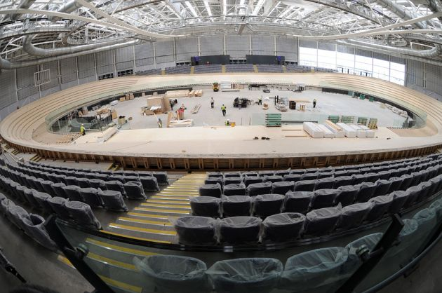 Home straight, Sir Chris Hoy Velodrome, 15 May 2012