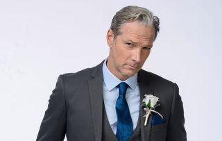 Ray in EastEnders in his wedding day suit