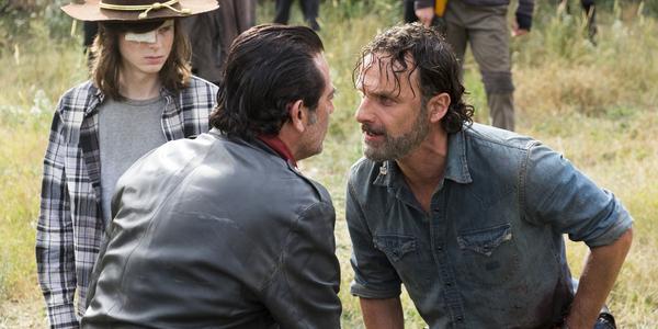 the walking dead season 7 finale carl negan rick