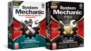 Iolo System Mechanic and System Mechanic Pro box shots
