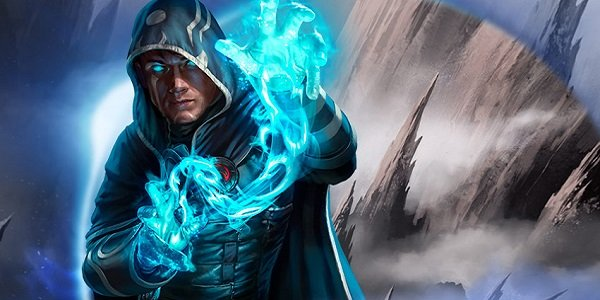 Jace casts a spell in Magic: The Gathering