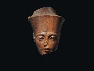 This life-size ancient sculpture depicting the head of King Tut is set to be auctioned by Christie's on July 4.
