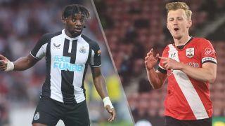 Newcastle United vs Southampton live stream — Allan Saint-Maximin of Newcastle and James Ward-Prowse of Southampton