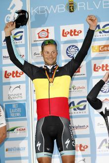Tom Boonen in his national champion's jersey