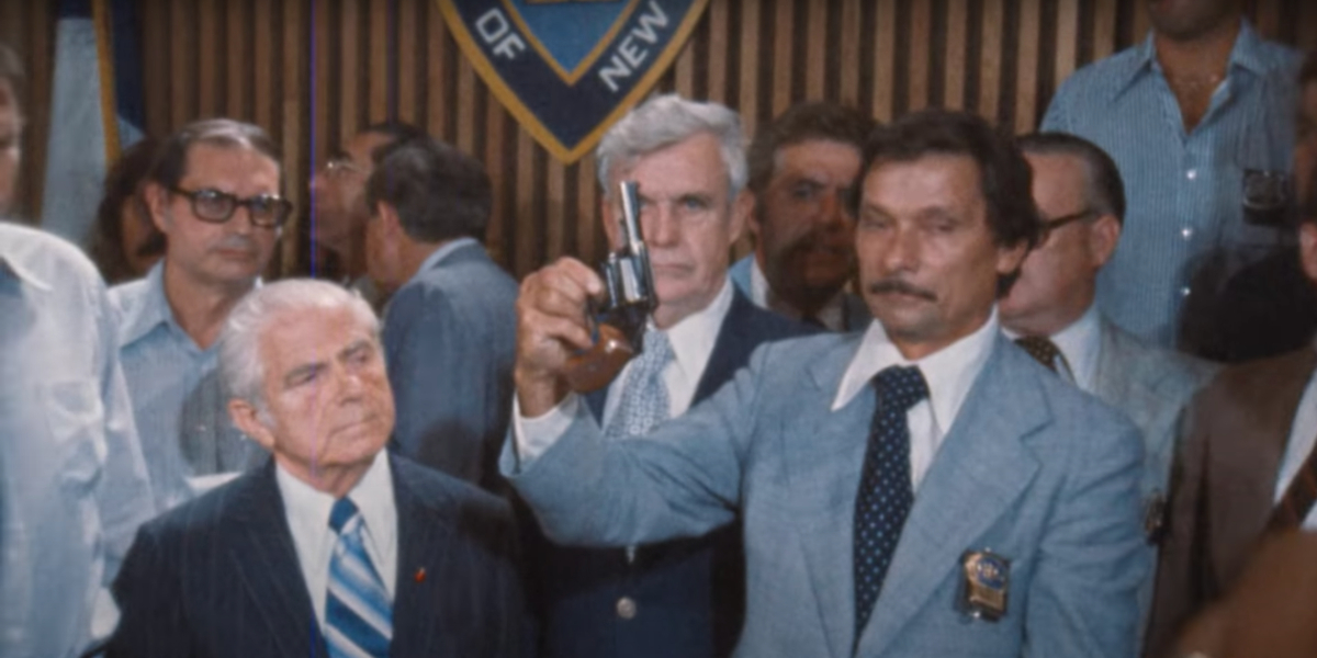 NYPD detectives with the .44 caliber in The Sons of Sam: Descent into Darkness