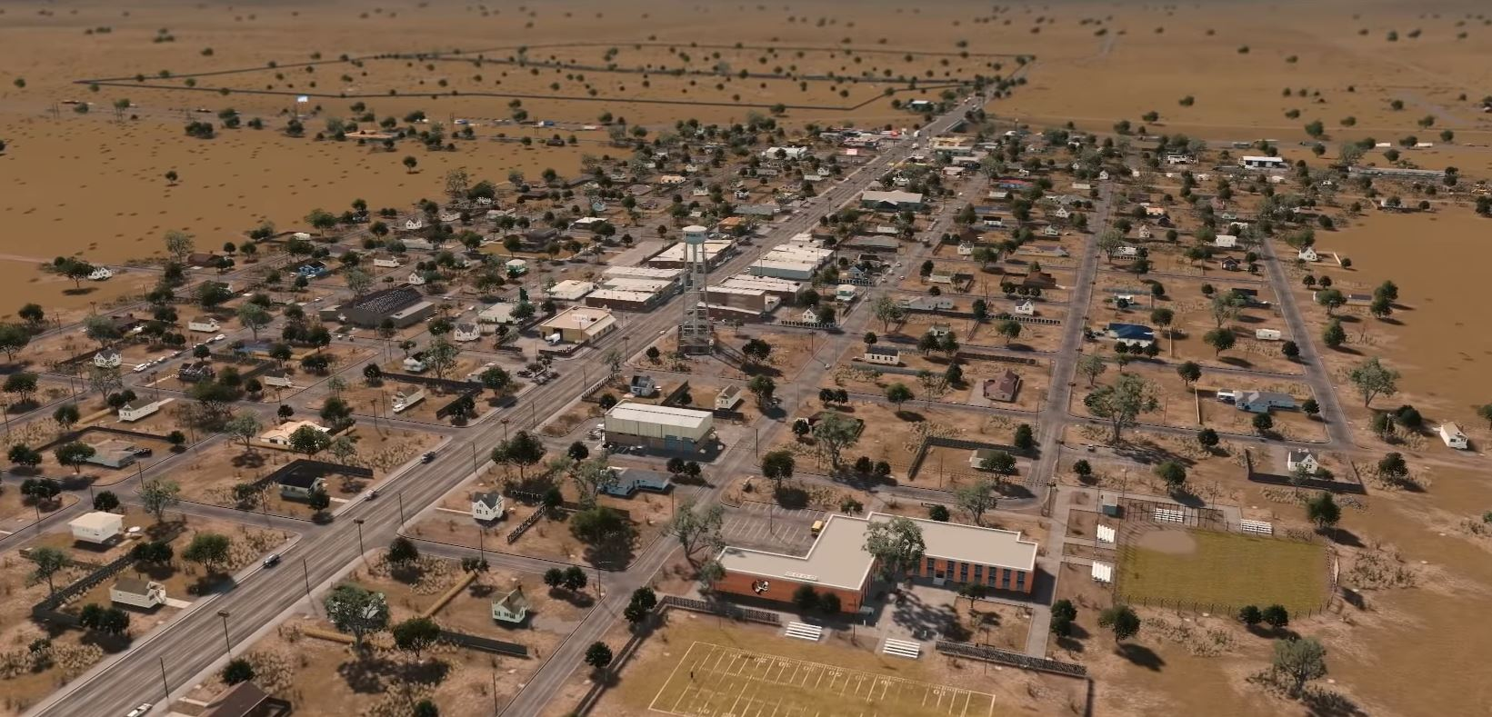 Watch this Cities: Skylines small-town Texas build, complete