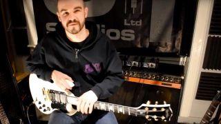 Man playing Black Sabbath riffs